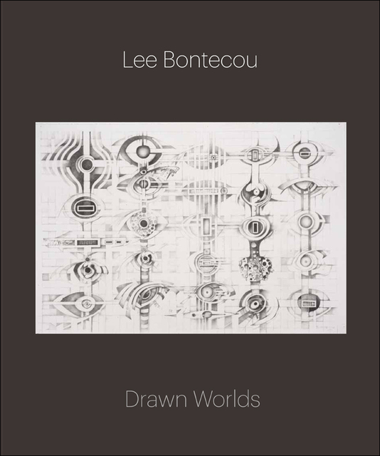 cover of Lee Bontecou's book, Drawn Worlds