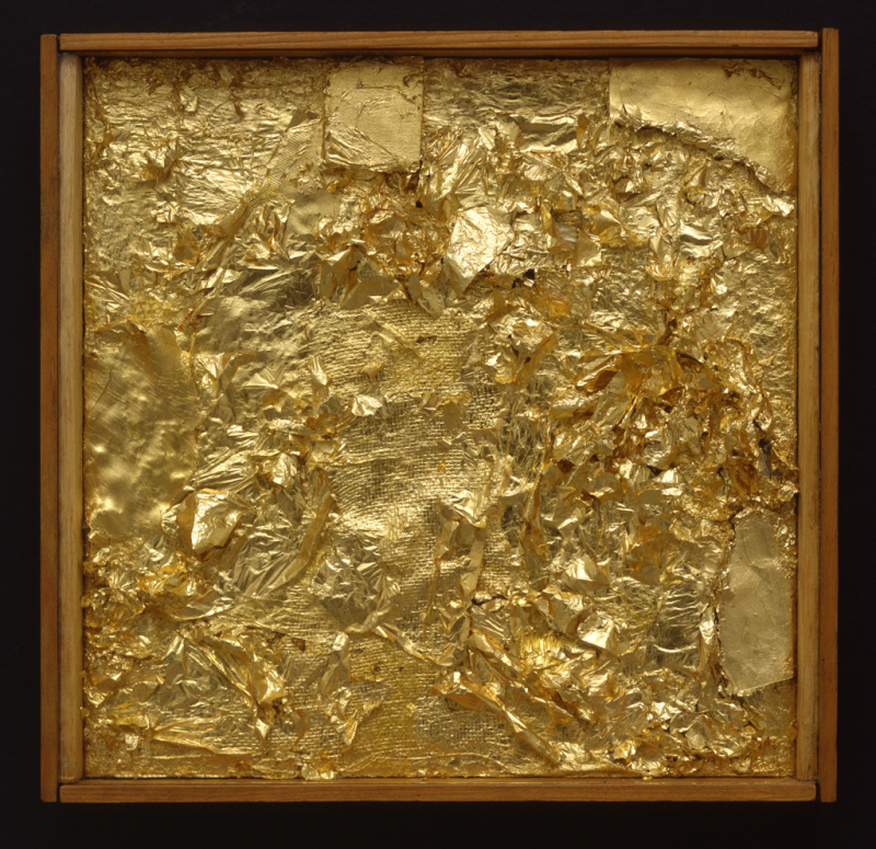 Robert Rauschenberg American 1925 2008 Untitled Gold Painting